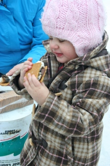 Leah and her beloved s'mores