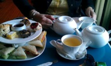 High Tea at The Tea Party features sandwiches, scones, squares and, of course, tea!