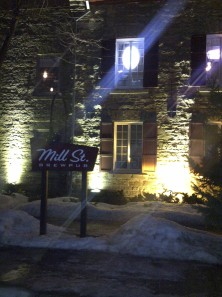 Mill St. Brewpub is located at 555 Wellington.