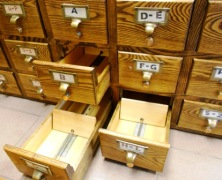 A card catalogue with which Mike has long been obsessed