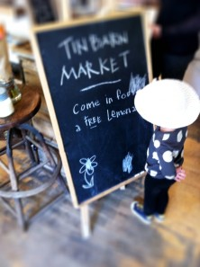 Leah takes over the artistic direction of the welcome chalkboard