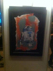 One of the pieces of art up for bid (via @CharityVillage on Twitter)