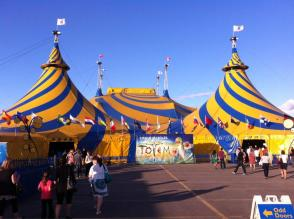 The show is being held under the big top, next to the Canadian Tire Centre in Kanata.